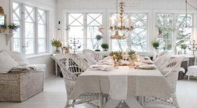 Decoration Elegant Shabby Chic Cottage Decor Dining Room