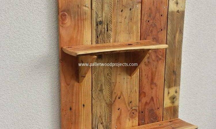 Decorative Pallet Wall Shelves Wood Projects