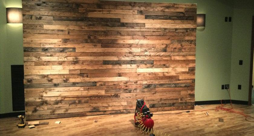 Distress Wood Create Faux Pallet Wall Time