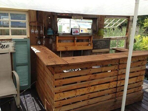 Diy Bar Projects Wooden Pallets Ideas