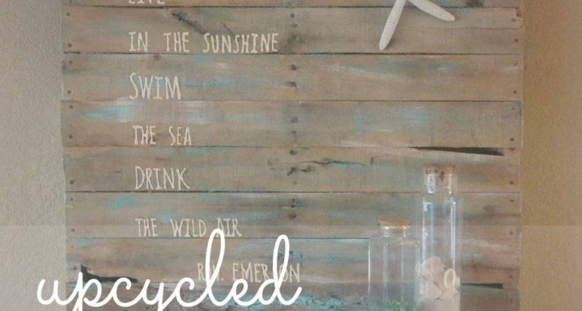 Diy Beach Themed Pallet Art Living Well Spending Less