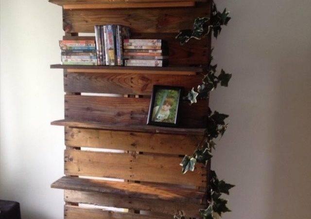 Diy Bookshelf Ideas Pallet Wood Furniture Plans