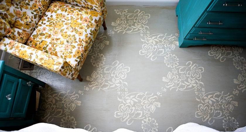 Diy Ideas Painting Your Floors Stencils