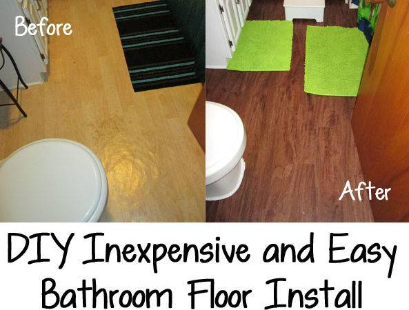 Diy Inexpensive Easy Bathroom Floor Install