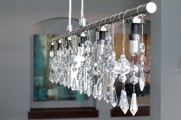 Diy Linear Crystal Chandelier School Decorating