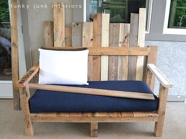 Diy Outdoor Pallet Wood Sofa Furniture Plans