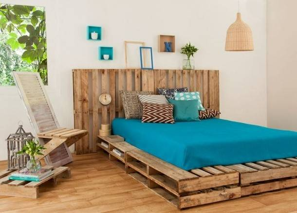Diy Pallet Bed Plans Furniture Projects