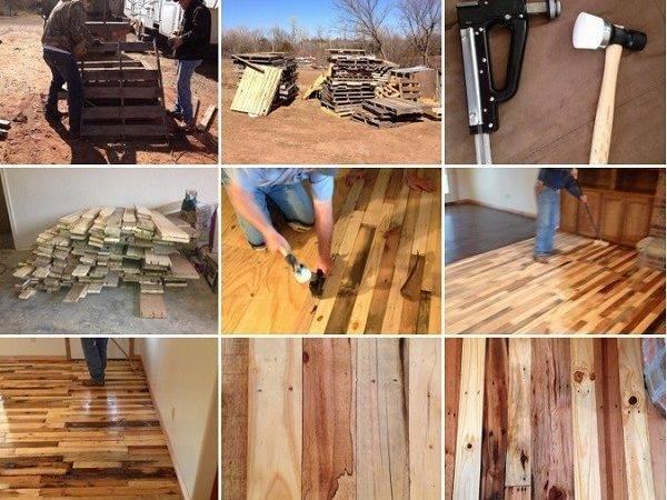 Diy Pallet Flooring Home Design Garden Architecture