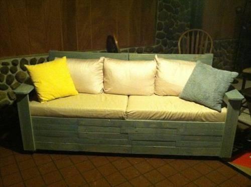 Diy Pallet Sofa Instructions Pallets Designs