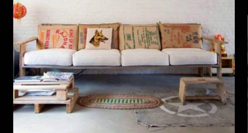 Diy Pallet Sofa Youtube