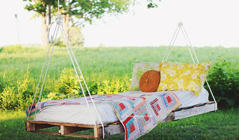 Diy Pallet Swing Bed Merrythought