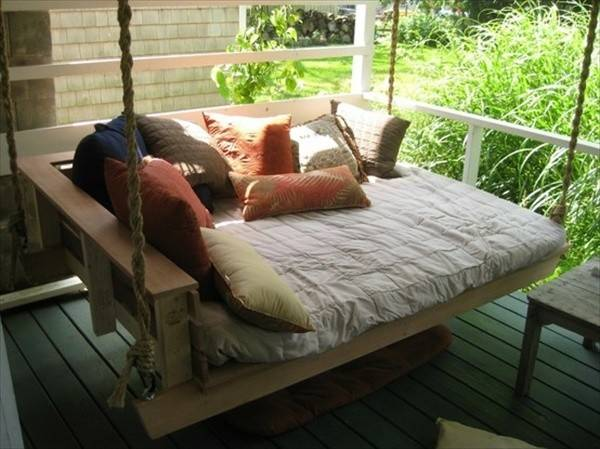 Diy Pallet Swing Plans Chair Bed Bench Wooden