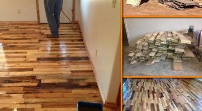 Diy Pallet Wood Flooring Tutorial Ideas