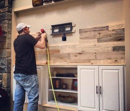 Diy Pallet Wood Wall Revival Woodworks