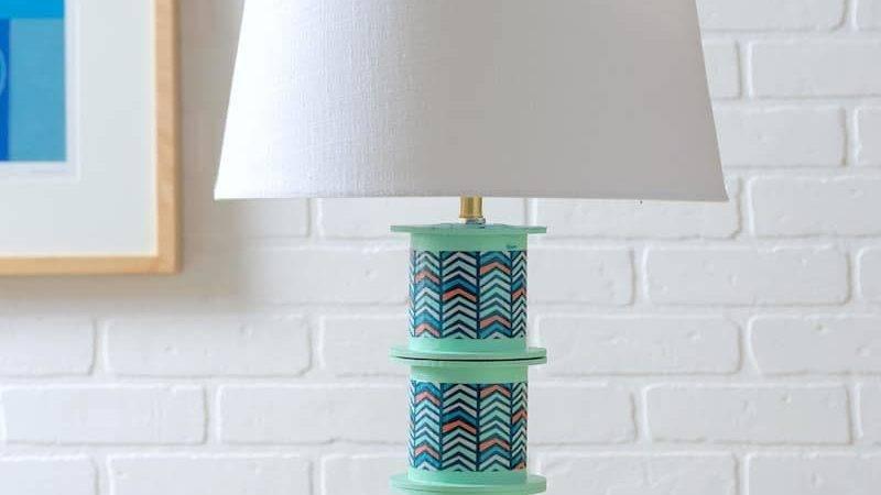 Diy Table Lamp Ribbon Spools Candy