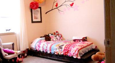 Diy Twin Bed Wood Pallets Emily Jones Photography