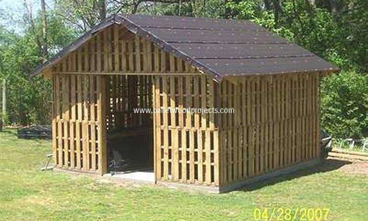 Diy Wooden Pallet Shed Projects Wood
