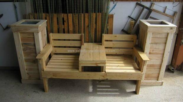 Double Seat Pallet Wood Chairs Furniture Projects