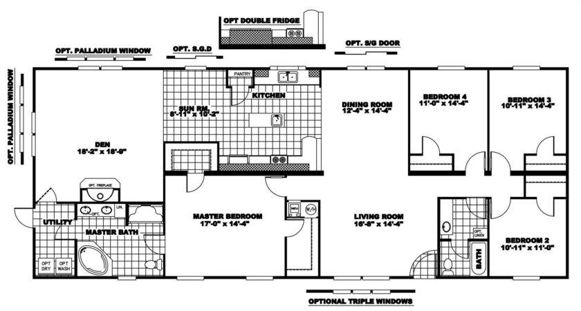 Double Wide Log Mobile Homeclayton Home Floor Plans
