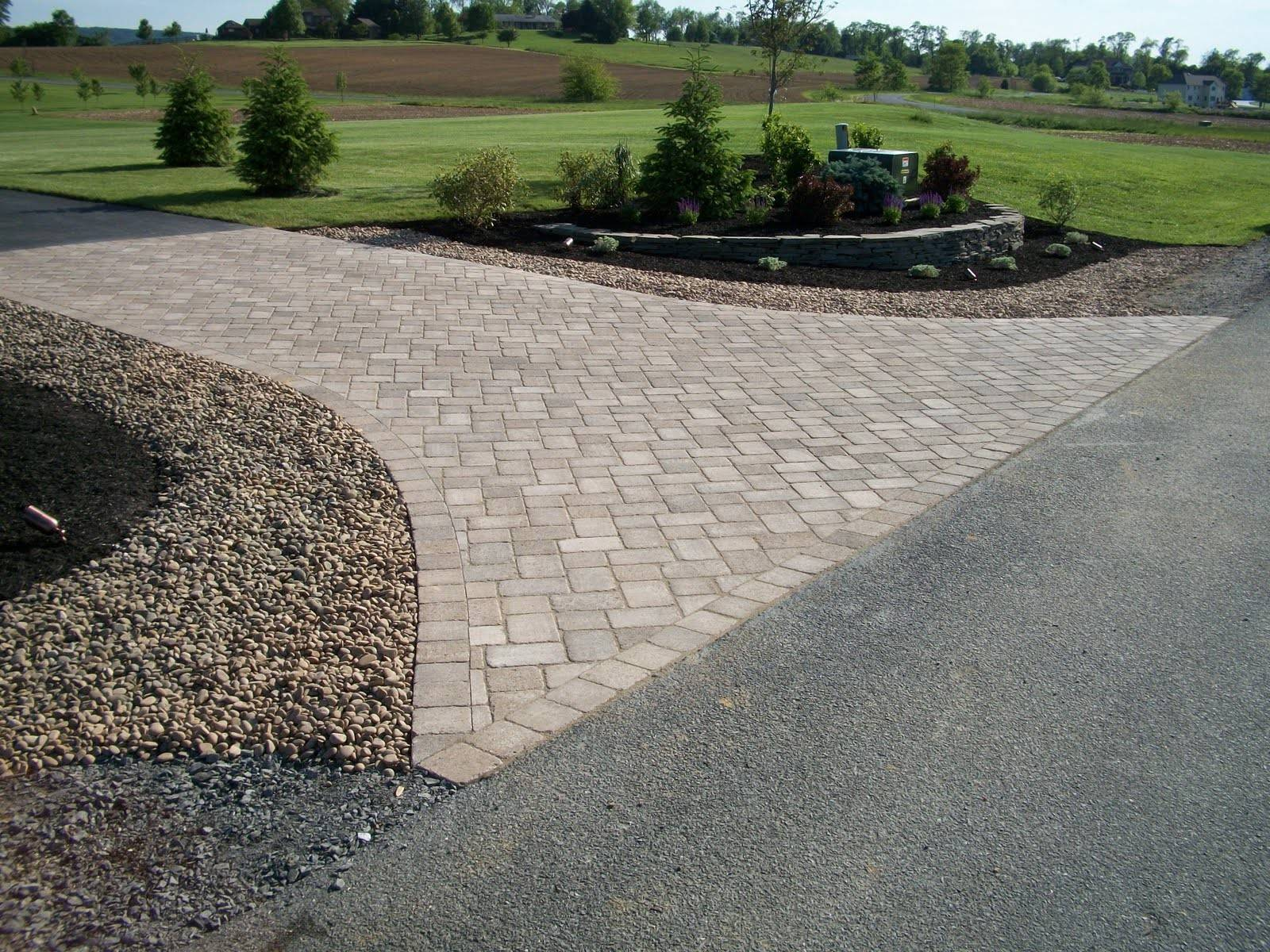 driveway landscaping ideas on a bank