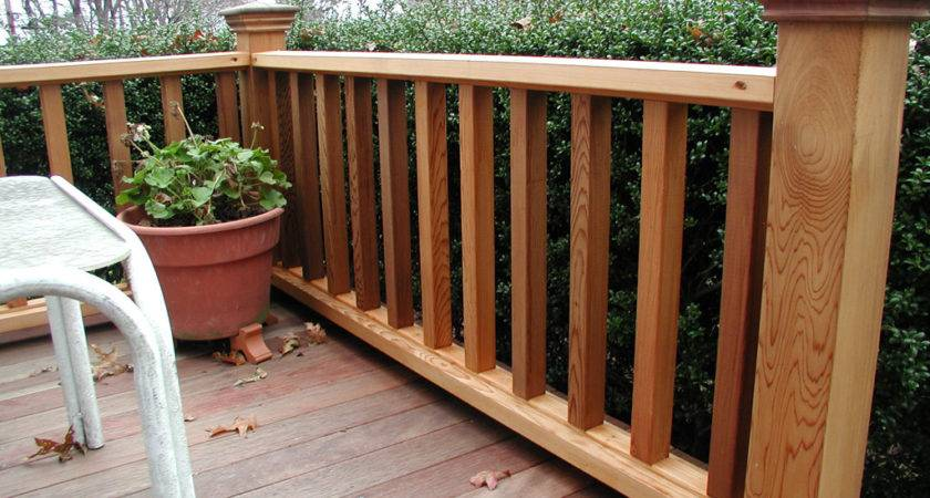 Durability Wood Deck Railing Ideas Doherty House