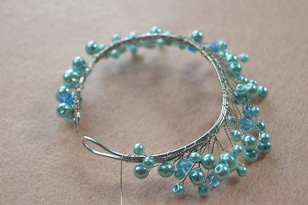 Easy Tutorial Pearl Beads Wire Wrapped Bracelet