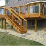 Elevated Wood Deck Plans Concrete