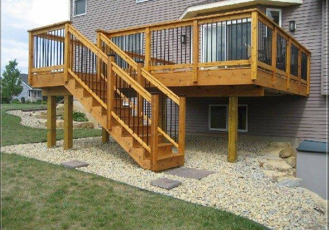 Elevated Wood Deck Plans Concrete