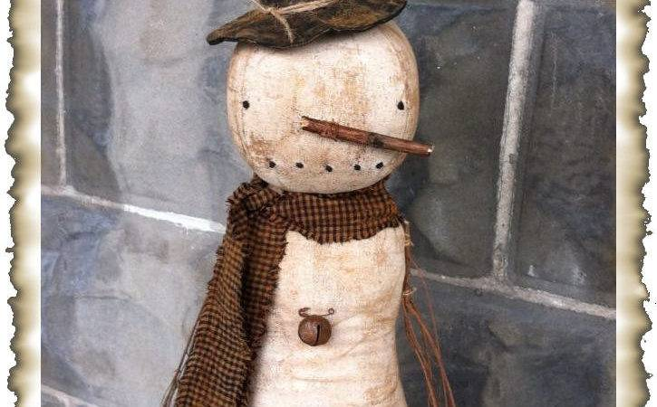 Epatternprimitive Olde Winter Snowman Doll Sewing Pattern