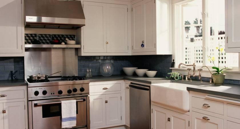 Farmhouse Sink Backsplash Kitchen Eclectic