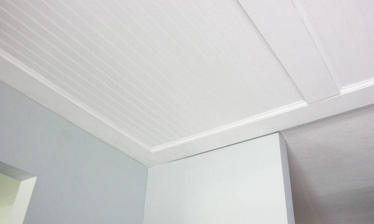 Faux Coffered Ceiling Using Beadboard Moulding