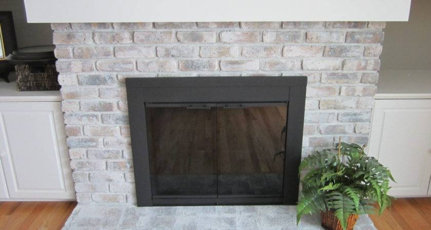 Fireplace Doors Spray Paint Home Staging