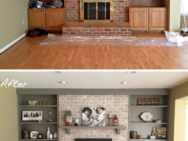Fireplace Makeover Get Whitewashed Look
