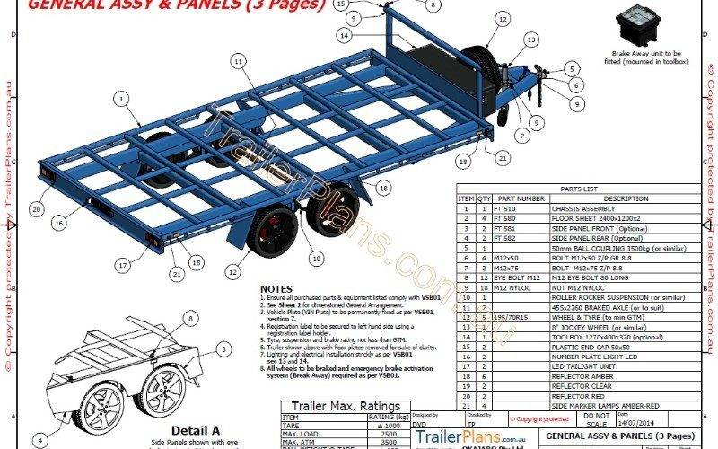 Flat Top Trailer Plan