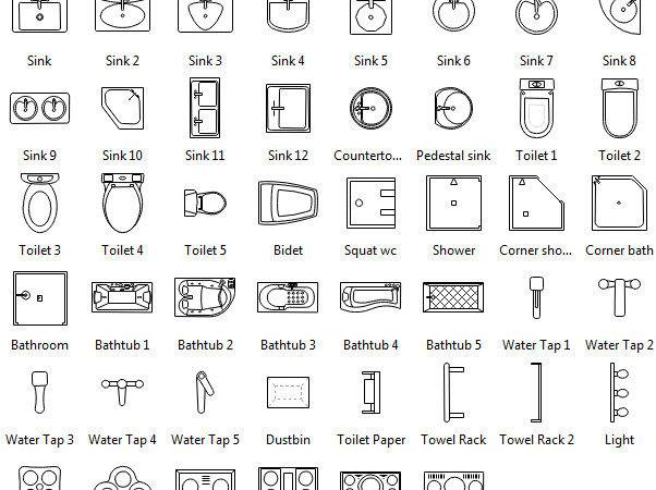 Floor Plan Symbols Clipart
