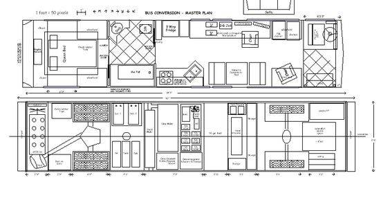 Floor Plans School Bus Tiny Home Conversions