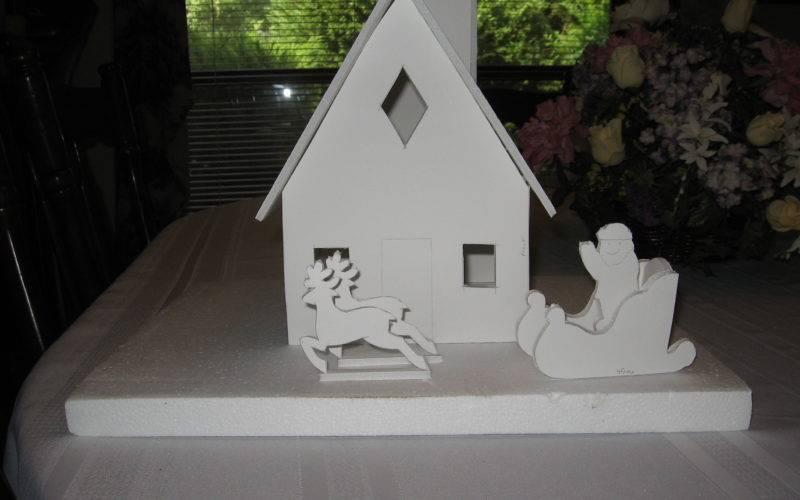 Foam Board Gingerbread House Project