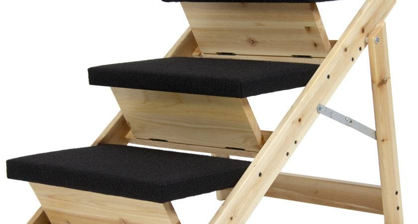 Folding Pet Ramp Stairs Dogs Cats Steps