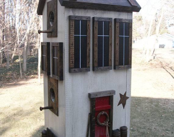 Folk Art Primitive Saltbox Country Farm Rustic White House