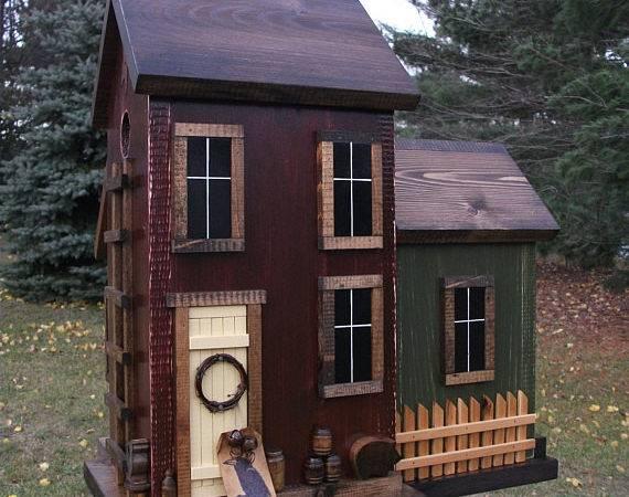 Folk Art Primitive Saltbox Farm House Harmonscountrycrafts