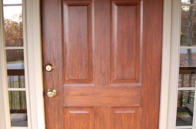 Front Door Redo Using Faux Wood Grain Technique Living