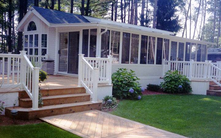 Front Porches Double Wide Mobile Home