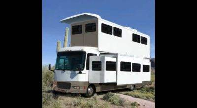 Funny Huge Story Popup Motorhome Design Arizona