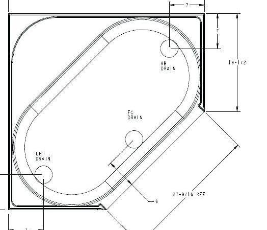 Garden Tub Bathtub Inches Corner