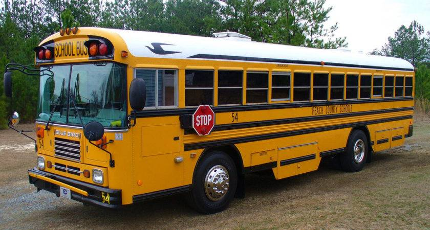 Georgia Blue Bird Bus Peach County Schools