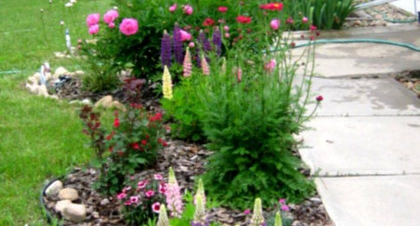 Great Landscaping Ideas Flowers Beds Country Home Back