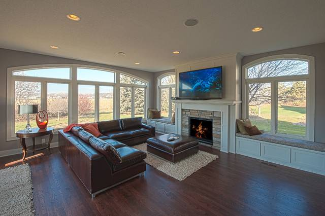 Great Room Addition Traditional Living