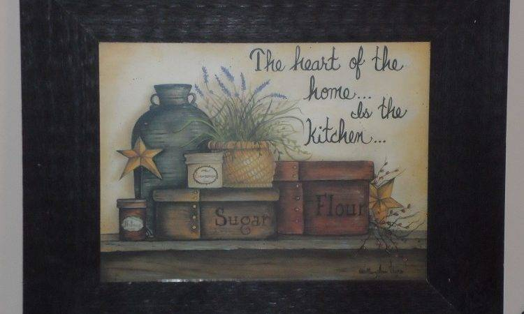 Heart Home Framed Country Kitchen