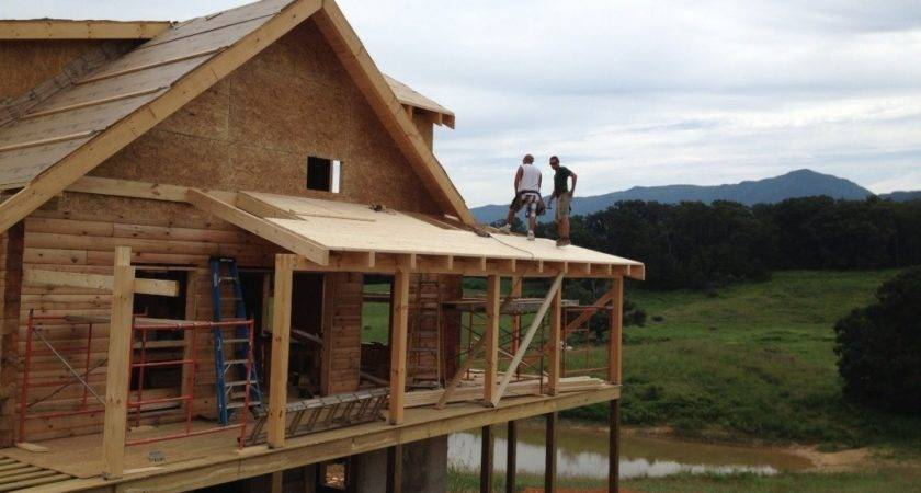 Hill Roof Framing Custom Timber Log Homes