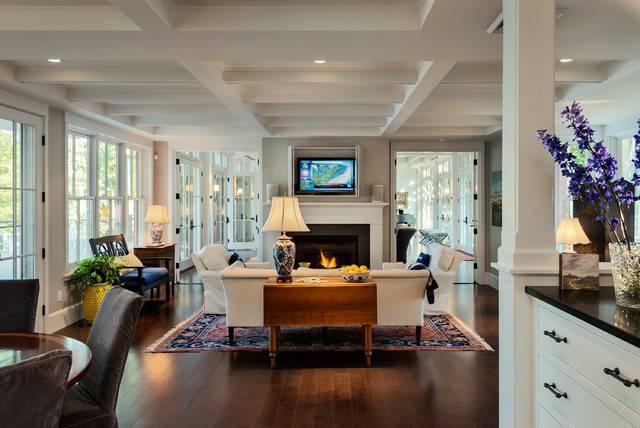 Hills Beach Cottage Style Living Room Portland